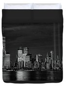 Tribute In Light  # 7 - B  And  W Duvet Cover