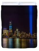 Tribute In Lights Memorial Duvet Cover by Susan Candelario
