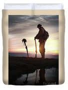 Tribute To A Fallen Comrade World War One Duvet Cover