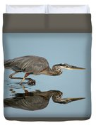 Tricolor Heron Hunting Duvet Cover