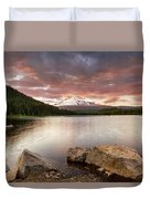 Trillium Lake Sunset Duvet Cover