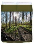 Trillium Trail Duvet Cover by Matt Molloy