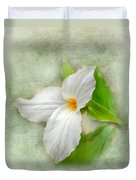 Trillium Wildflower  Duvet Cover