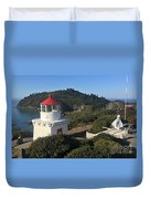 Trinidad Head Memorial Lighthouse, California Lighthouse Duvet Cover