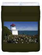 Trinidad Lighthouse California Duvet Cover