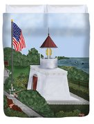 Trinidad Memorial Lighthouse Duvet Cover