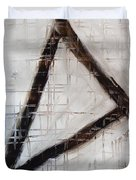 Trinity Channels Abstract Painting Duvet Cover