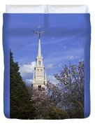 Trinity Church In Spring Duvet Cover