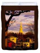 Trinity Church Spring Sunset Duvet Cover