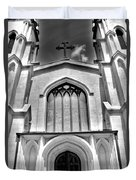 Trinity Episcopal Cathedral Black And White Duvet Cover