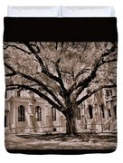 Trinity Episcopal Cathedral Court Yard Duvet Cover