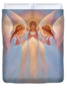 Trinity Of Angels Duvet Cover