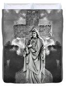 Trinity Of Stone Duvet Cover