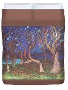 Trinity Tree By Moonlight Duvet Cover