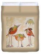 Trio Birds Duvet Cover