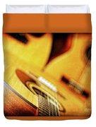 Trio Of Acoustic Guitars Duvet Cover