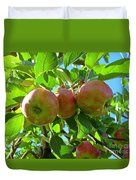 Trio Of Apples Duvet Cover