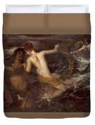 Triton Carrying A Nereid On His Back 1875 Duvet Cover