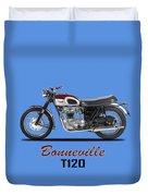 Triumph Bonneville T120 1968 Duvet Cover