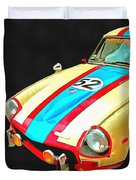Triumph Gt Pop Art Duvet Cover