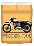Triumph Tiger 110 1959 Duvet Cover