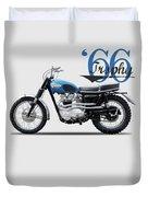 Triumph Trophy Sc 1966 Duvet Cover