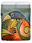Trois Oiseaux Duvet Cover