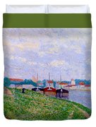 Trois P Niches Amarr Es Aux Abords D Une Ville Industrielle 1886 Duvet Cover