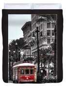 Trolley On Bourbon And Canal  Duvet Cover