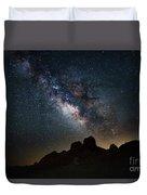 Trona Pinnacles Galactic Core Duvet Cover