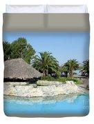 Tropic Bar Vacation Summer Scene Duvet Cover