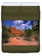 Tropic Canyon Bridge In Bryce Canyon Np Utah Duvet Cover