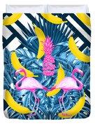 Tropical Banana Pink   Duvet Cover