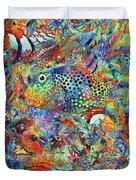 Tropical Beach Art - Under The Sea - Sharon Cummings Duvet Cover