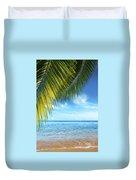 Tropical Beach Duvet Cover by Carlos Caetano