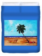 Tropical Beach Scene Duvet Cover