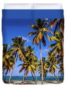 Palms On The Beach Duvet Cover