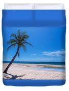 Tropical Blue Skies And White Sand Beaches Duvet Cover