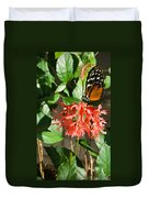 Tropical Butterfly On Flower Duvet Cover