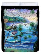 Tropical Cove  Fresco Triptych 2 Duvet Cover