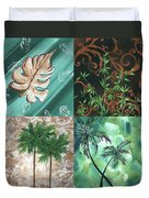 Tropical Dance Square By Madart Duvet Cover