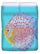 Tropical Discus Fish With Red Spots Duvet Cover