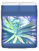Tropical Dreams In Pastel Purple-blue Duvet Cover