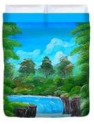 Tropical Falls Duvet Cover