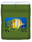Tropical Fish Butterflyfish. Duvet Cover