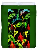 Tropical Flock Duvet Cover