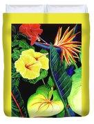Tropical Flower Arrangement #251 Duvet Cover