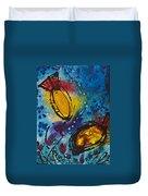Tropical Flower Fish Duvet Cover by Sharon Cummings
