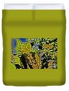Tropical Foliage A-la Monet Duvet Cover