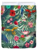 Tropical Fun Time  Duvet Cover by Mark Ashkenazi